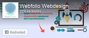 Webfolio Webdesign Facebook oldala