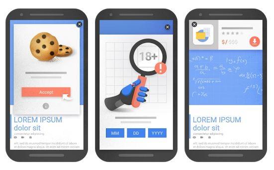 Új Google SEO algoritmus elem, büntetés tartalmat takaró, pop-up weboldal elemekre